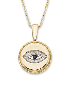 Diamond (1/20 ct. t.w.) Evil Eye Pendant in 14k Yellow or Rose Gold