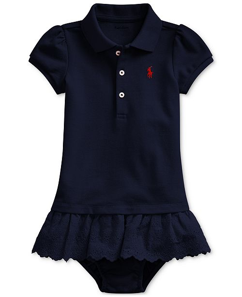Polo Ralph Lauren Baby Girls Polo Dress, Created For Macy's