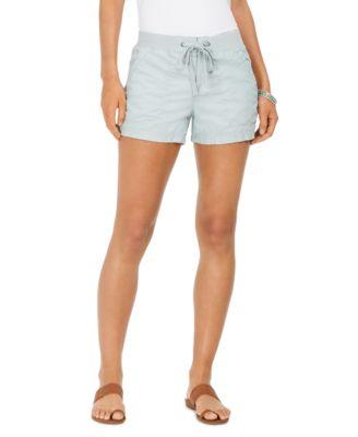 Style /& Co Comfort-Waist Cargo Shorts Medium Chambray 8