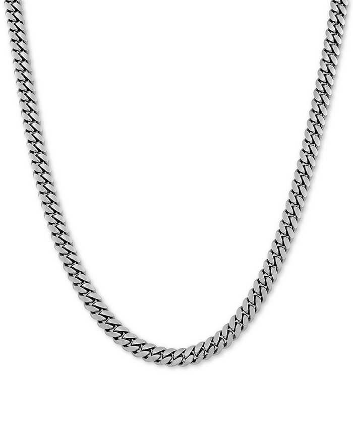"""Macy's - Cuban Link 24"""" Chain Necklace in Sterling Silver"""