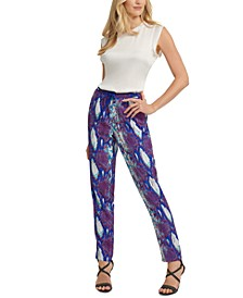 Printed Pull-On Pants