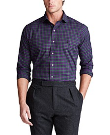 Men's Classic Fit Plaid Cotton Shirt
