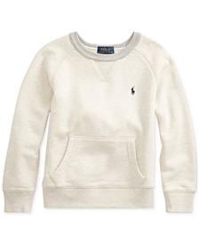 Toddler Boys Twill Terry Sweatshirt