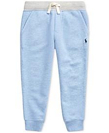 Little Boys Twill Terry Jogger Pants