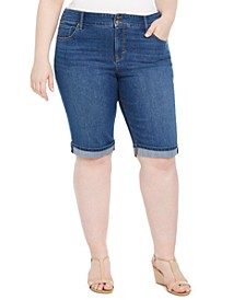 Plus Size Denim Bermuda Shorts, Created For Macy's