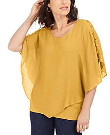 Gauze Cape Gauze Top, In Regular and Petite, Created for Macy's