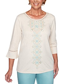 Petite Cottage Charm Embroidered Top