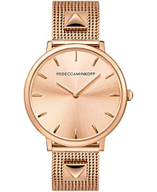 Women's Major Rose Gold-Tone Stainless Steel Bracelet Watch 35mm