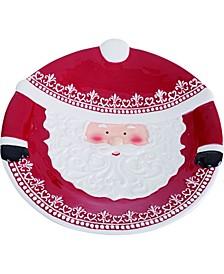 Dolomite Red Christmas Santa Platter