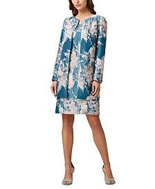 Floral-Jacquard Topper Jacket & Sheath Dress