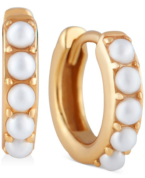 Olivia Burton Imitation Pearl Huggie Hoop Earrings