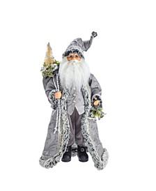 18-Inch Kringle Klaus Silver Santa