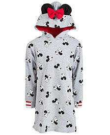 Little Girls Minnie Mouse Hooded Sweatshirt Dress