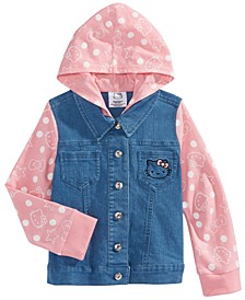 Little Girls Hooded Denim Jacket