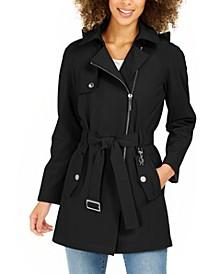 Belted Water-Resistant Raincoat