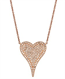 Diamond (1/2 ct.t .w.) Necklace in 14K Rose Gold