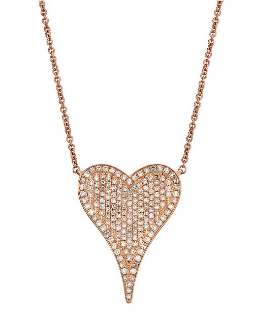 Serena Williams Jewelry Diamond (1/2 ct.t .w.) Necklace in 14K Rose Gold