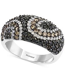 EFFY® Diamond Pavé Swirl Pattern Statement Ring (1-1/2 ct. t.w.) in 14k White Gold