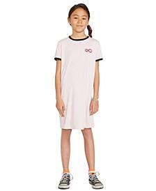 Big Girls Ringer Graphic-Print T-Shirt Dress