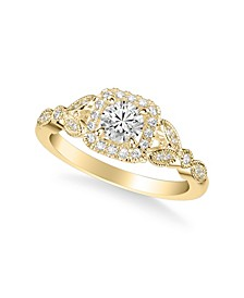 Diamond Princess Engagement Ring (5/8 ct. t.w.) in 14k White, Yellow and Rose Gold