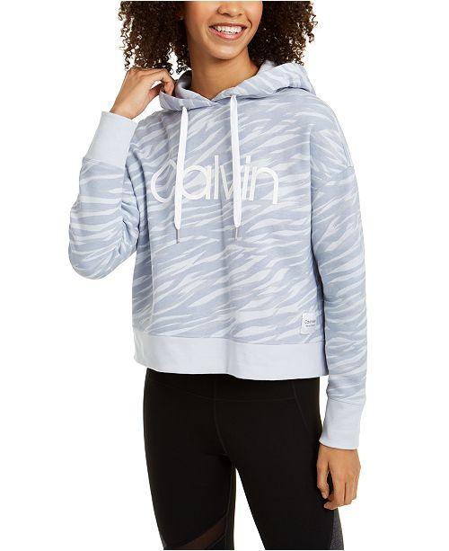 Calvin Klein Zebra-Print Logo Hoodie