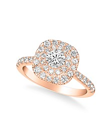 Diamond Halo Engagement Ring (1 1/4 ct. t.w.) in 14k White, Yellow or Rose Gold