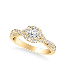 Diamond Twist Engagement Ring (3/4 ct. t.w.) in 14k White, Yellow or Rose Gold