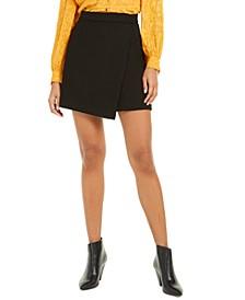 Alido Sundae Faux-Wrap Mini Skirt
