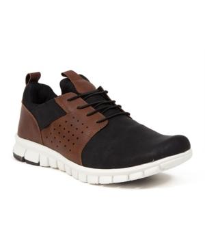 Men's NoSoX Betts Flexible Sole Bungee Lace Slip-On Oxford Hybrid Casual Sneaker Shoes