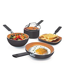 Nonstick Space-Saving StackMaster Mini 5-Pc. Cookware Set