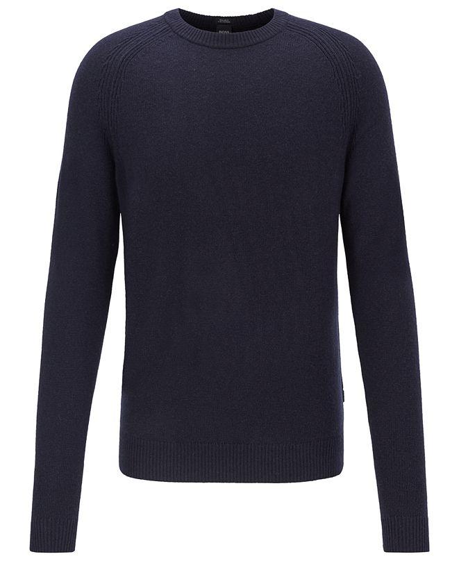 Hugo Boss BOSS Men's Benilo Regular-Fit Cashmere Sweater