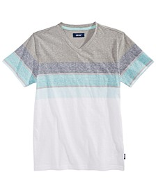 Big Boys Roamer Colorblocked Stripe V-Neck T-Shirt