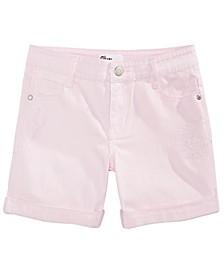 Big Girls Cuffed Denim Shorts, Created For Macy's