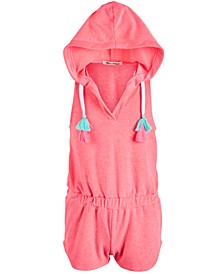 Big Girls Loop Terry Hoodie Romper Cover Up