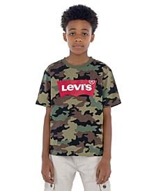 Big Boys Camouflage Batwing Logo T-Shirt