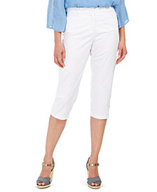 Karen Scott Petite Comfort-Waist Capri Pants, Created for Macy's
