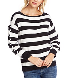 Striped Boat-Neck Sweater