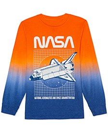 Big Boys NASA Grid Ombré T-Shirt