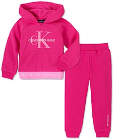 Toddler Girls 2-Pc. Fleece Hoodie & Jogger Pants Set