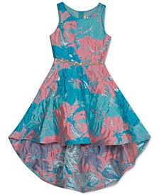 Big Girls High-Low Brocade Dress