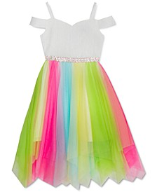 Toddler Girls Rainbow Fairy-Hem Dress