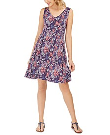 Sleeveless Printed Strappy-Back Dress, Created For Macy's