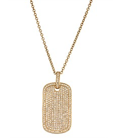 Diamond (1 ct. t.w.) Dog Tag Necklace in 14K Yellow Gold