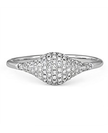 Diamond (1/4 ct. t.w.) Pinky Ring in 14K White Gold