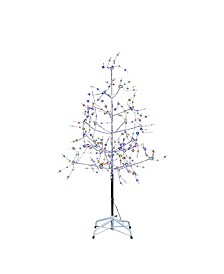 6-Foot Silver Bark Fairy Lights Tree