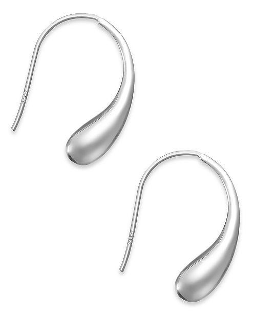 Giani Bernini Sterling Silver Earrings, Teardrop J Hoop Earrings