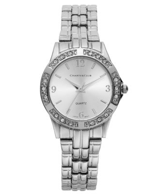 Image of Charter Club Women's Silver-Tone Bracelet 40mm