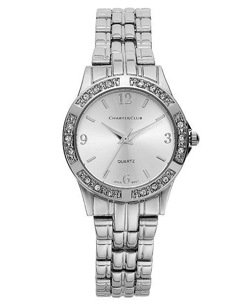 Charter Club Women's Silver-Tone Bracelet 40mm