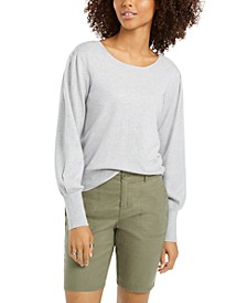 Pull-Sleeve Blouson Sweater, Created for Macy's