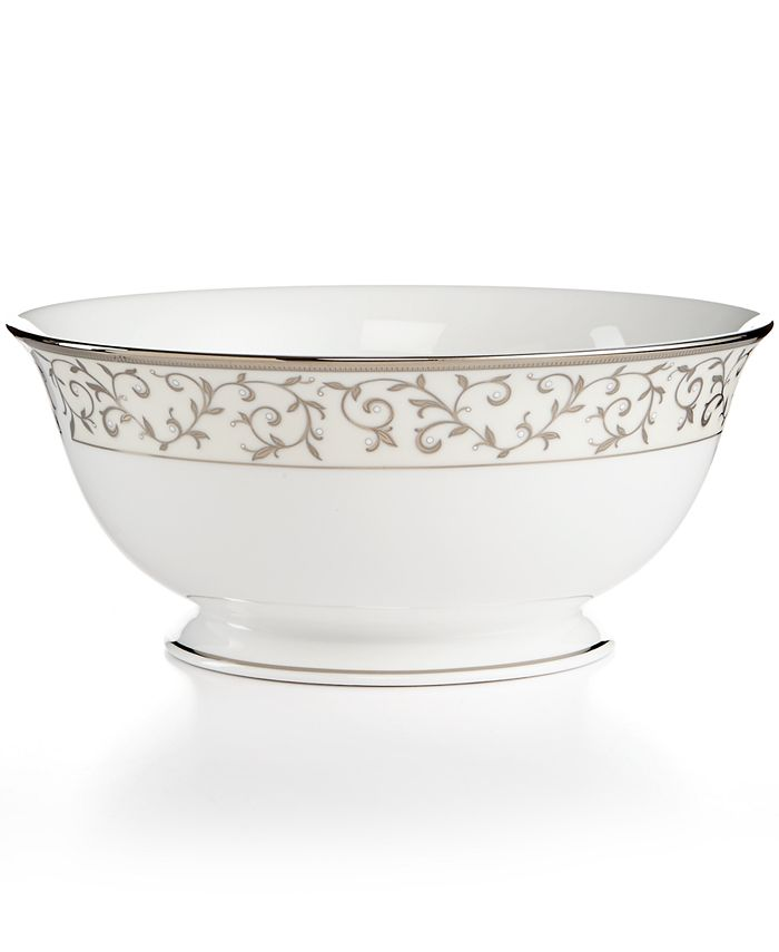 Lenox - Opal Innocence Silver Serving Bowl